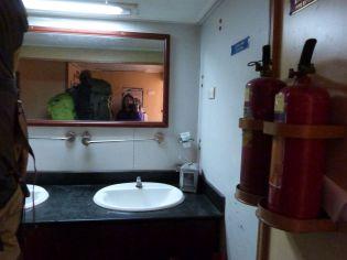 """Wash Room"" im Nachtzug"