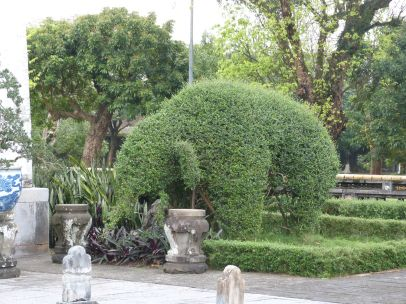 Auch auf der Zitadelle gibt es Elefanten