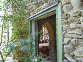 Die Ruinenvilla war einst ein Gewächshaus