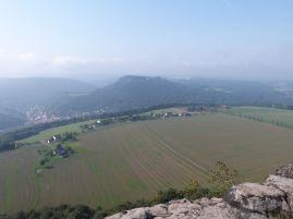Blick vom Lilienstein auf die Festung Königstein