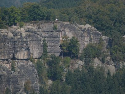 Der Kuhstall im Neuen Wildenstein von den Affensteinen aus gesehen