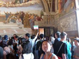 Man schiebt sich durch die Vatikanischen Museen...