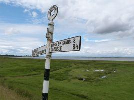 Durch die Salzwiese auf dem Weg nach Bowness-on-Solway