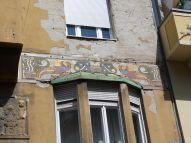 Ein neo-byzantinisches Mosaik auf der Pester Seite