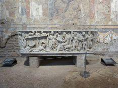 Und ganz nebenbei gab es den wohl ältesten bekannten christlichen Sarkophag Roms zu sehen