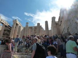 Wir waren nicht die einzigen, die auf die Akropolis wollten...
