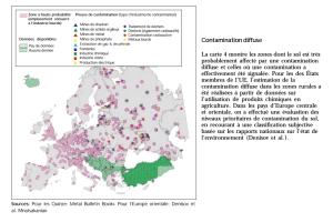 Preuves de contamination - Agence EU Environnement