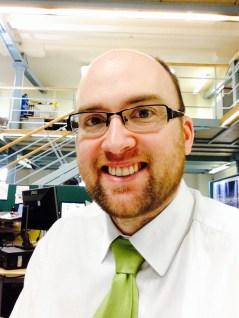 Dan staffing the new desk