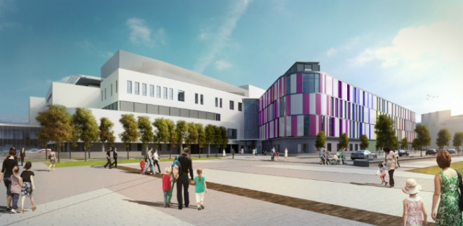 Artists impression of the new Edinburgh Sick Kids Hospital