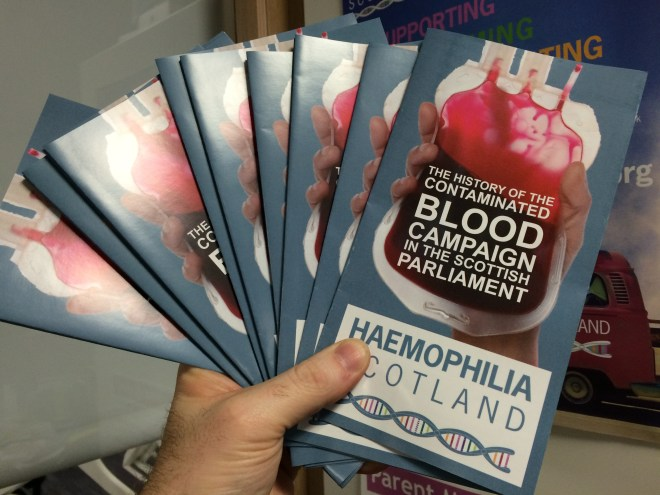 Haemophilia Scotland launched a new leaflet at the event
