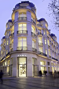Zara store in the Champs-Élysées in Paris, France. Picture Courtesy of Inditex Co. All rights reserved to Inditex.