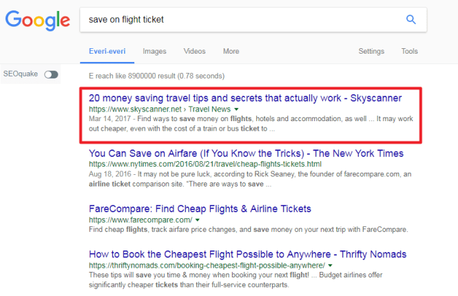 Brand Trust through Search Results