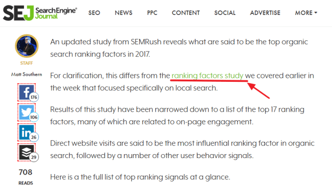 Contextual Backlinks Example