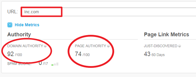 Page Authority and Domain Authority