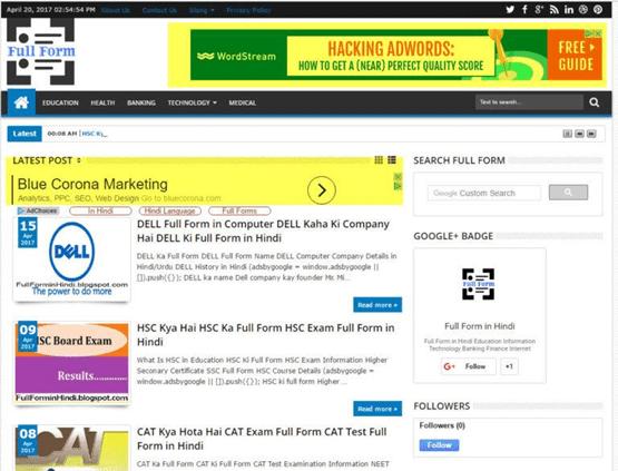 Hafiz Muhammad Ali-SEO Google Algorithm Fred Adwords