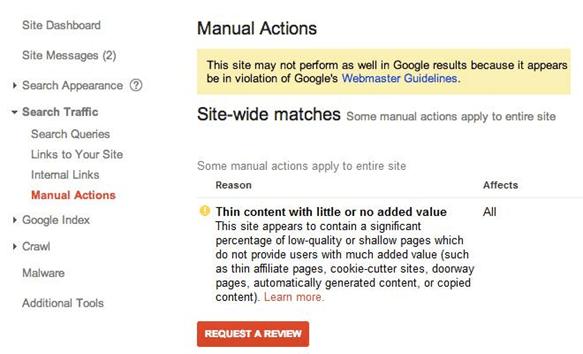 Hafiz Muhammad Ali-SEO Webmaster Tools Manual Actions