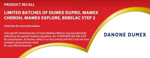 Dumex recall product