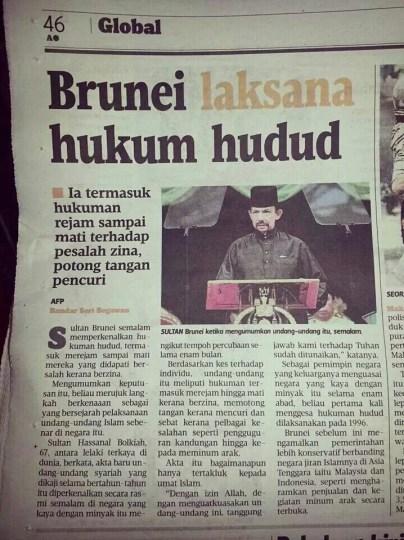 hukum hudud sultan brunei