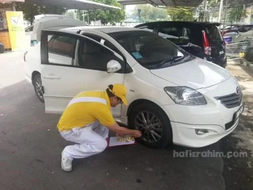 Pemeriksaan kereta Shell