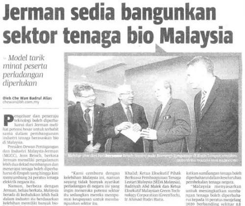 Jerman sedia bangunkan sektor tenaga bio di Malaysia