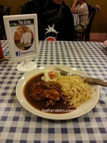 Chicken Steak with Pasta