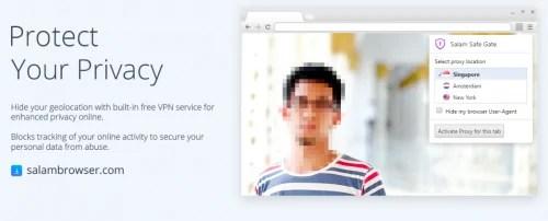 Salam Browser dengan VPN