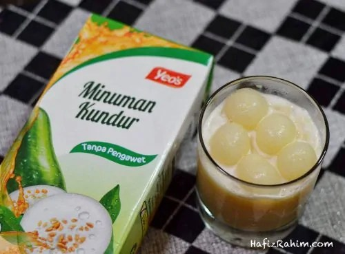 Ice Blended Yeo's Teh Kundur Dan Longan