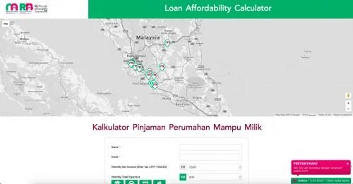 Kalkulator Pinjaman Perumahan Mampu Milik