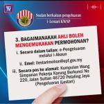 Cara pengeluaran RM500 'i-lestari' dari akaun KWSP secara online
