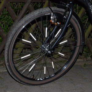 Odblaskowe nakładki na szprychy rowerowe