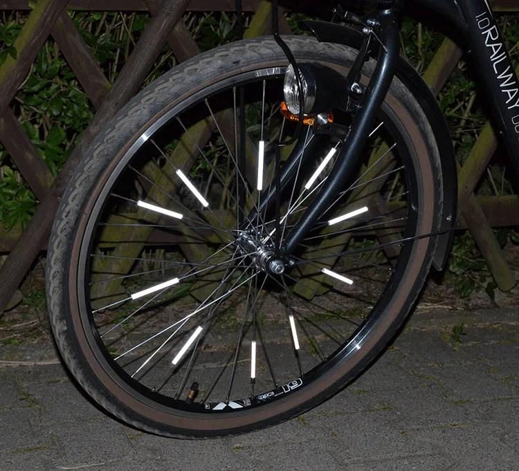Odblaskowe nakładki naszprychy rowerowe