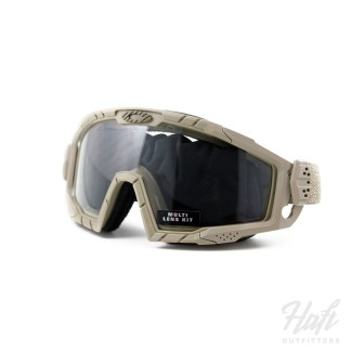 Oakley SI Ballistic Goggle 2.0 Array - Dark Bone Frame - 0N + 3N Clear + Grey Lens - SKU: OO7035-07