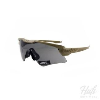 Oakley SI Ballistic M Frame Alpha Array - Terrain Tan Frame - 3N + 0N Clear + Grey Lens - SKU: OO9296-07