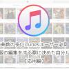 【応用編】楽曲数の多いiTunesユーザー必見!曲情報の編集をする際に決めた自分ルール