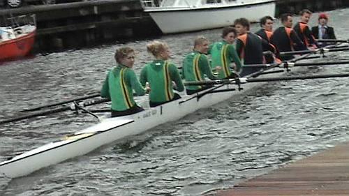 de nieuwe botenloods van de Haagse Studenten Roeivereniging Pelagros