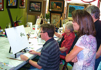 William Hagerman Teaching Art at the Ginger Lily in Lamesa, TX