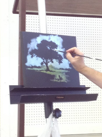 William Hagerman negative shape painting demo