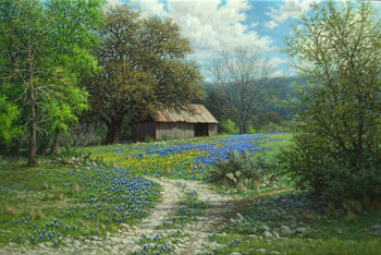 bluebonnet painting by William Hagerman