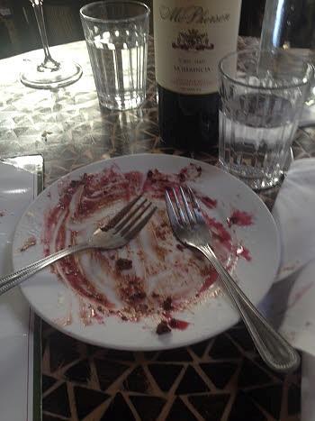 empty dessert plate