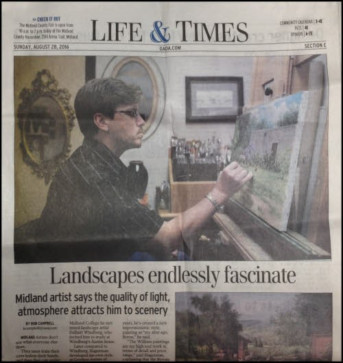 William Hagerman featured in the Odessa American Newspaper.
