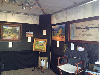 art show booth set up Hagerman art