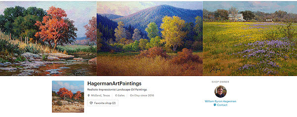 Landscape oil paintings on Etsy from Hagerman Art Paintings
