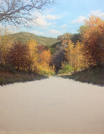 oil painting demo water reflections by William Hagerman