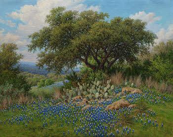 bluebonnet oil painting