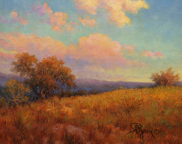 "landscape oil painting sunset clouds by William ""Byron"" Hagerman"