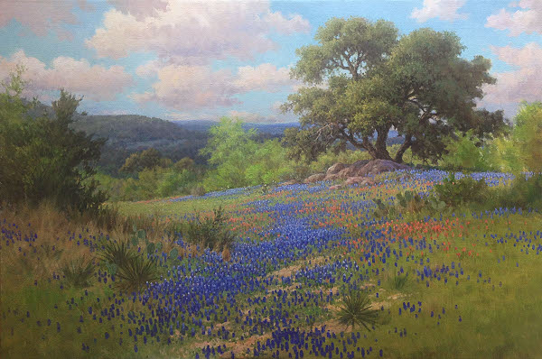 oil painting bluebonnet demo
