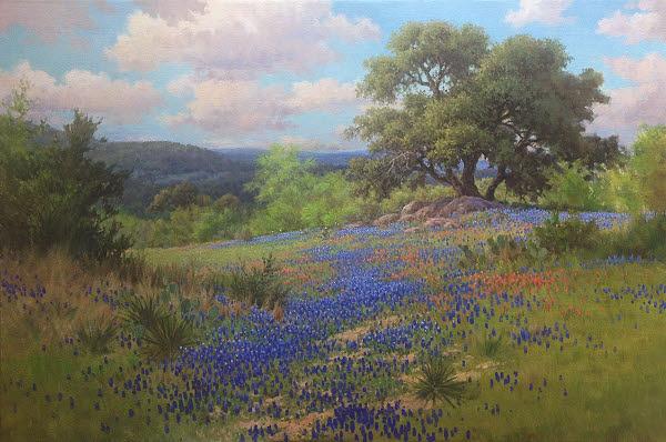 oil painting bluebonnet demo
