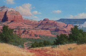Boynton Pass Sedona Arizono landscape oil painting by William Hagerman