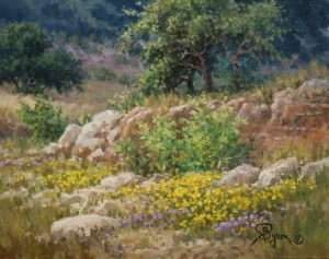 Texas Landscape oil painting by William Byron Hagerman
