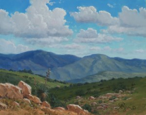 landscape oil painting Arizona mountain vista by artist William Byron Hagerman